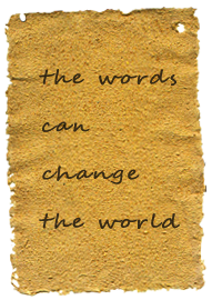 the words can change the world