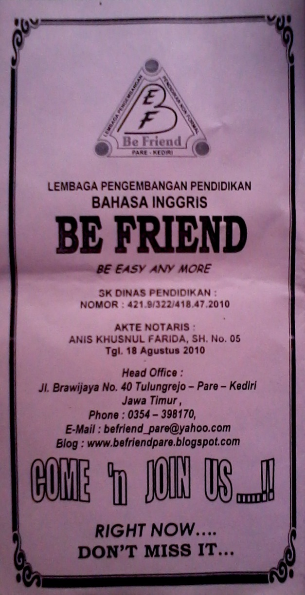 BE FRIEND course