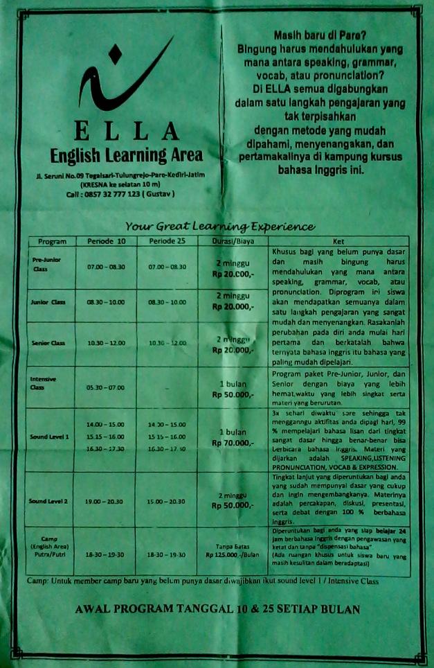 ELLA course