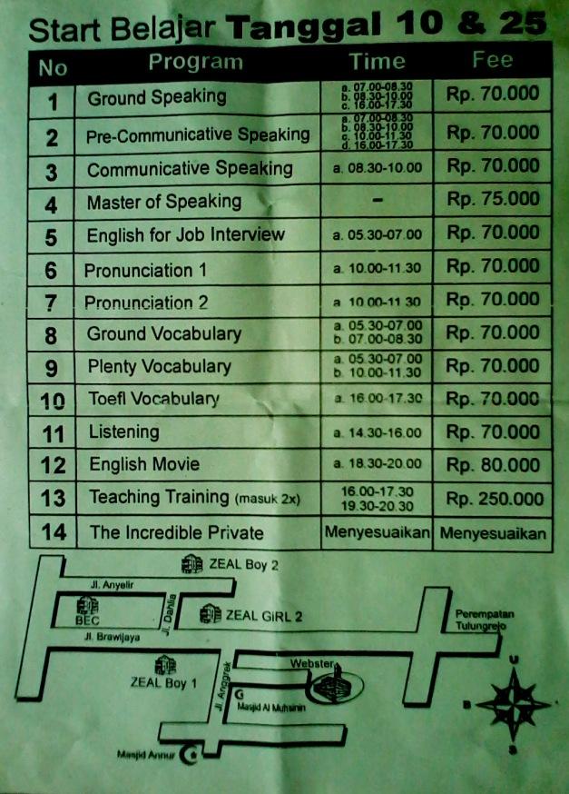 WEBSTER course