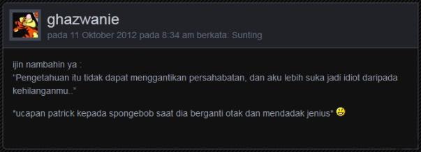 komentar ghazwanie