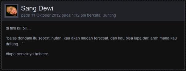 komentar Sang Dewi
